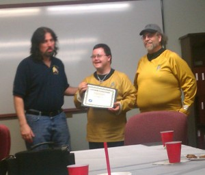 Chris McKinney was awarded as the Captain's Assistant,.